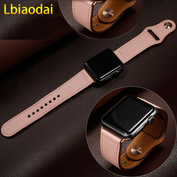 цена на Leather strap For apple watch band apple watch 5 4 band 42mm/38mm iwatch band 44mm/40mm pulseira bracelet watchband 5 4 3 2 belt