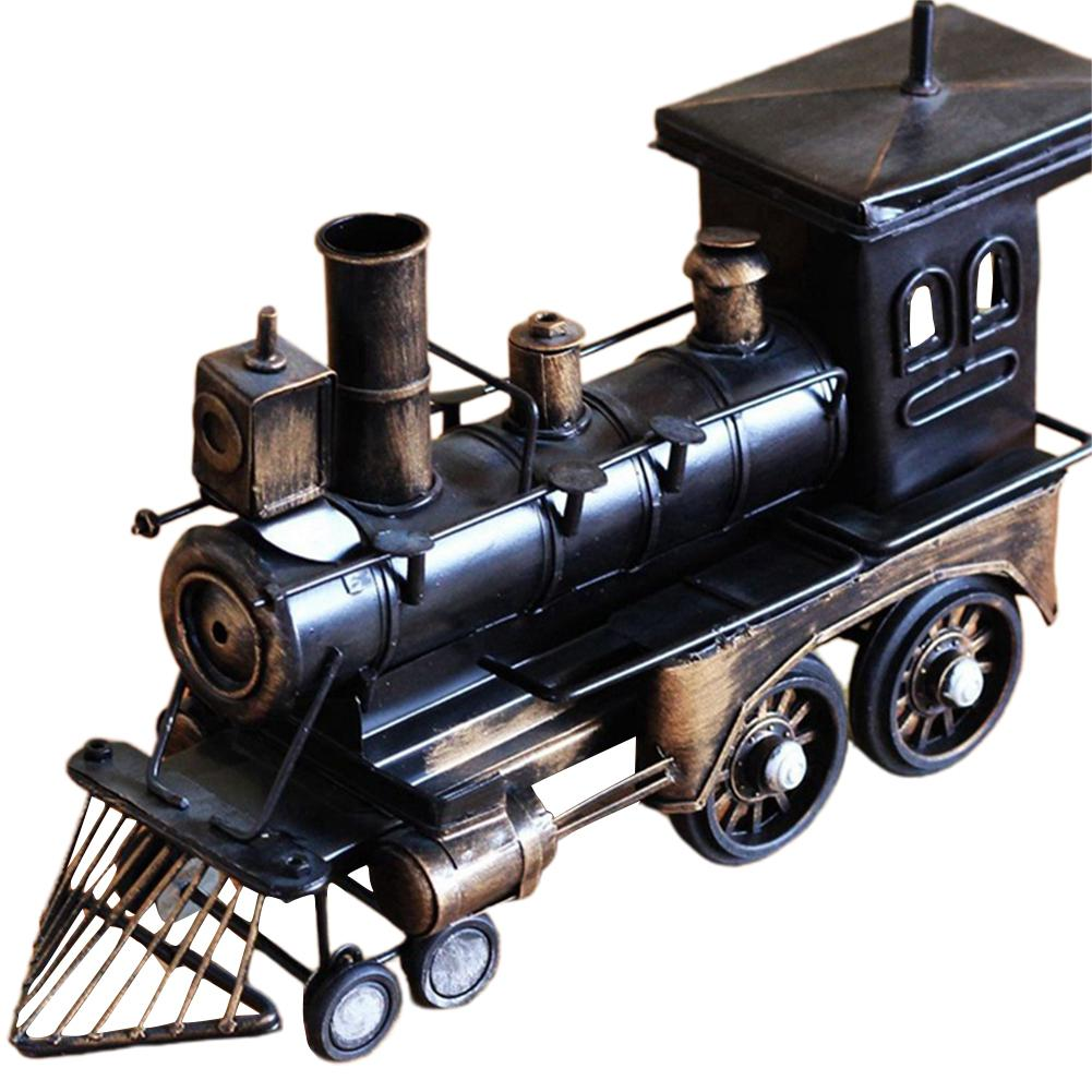 Yiwa Pure Handmade Metal Iron Locomotive Model Music Box Retro Manual Music Box Gifts Castle In The Sky Angel Keychain