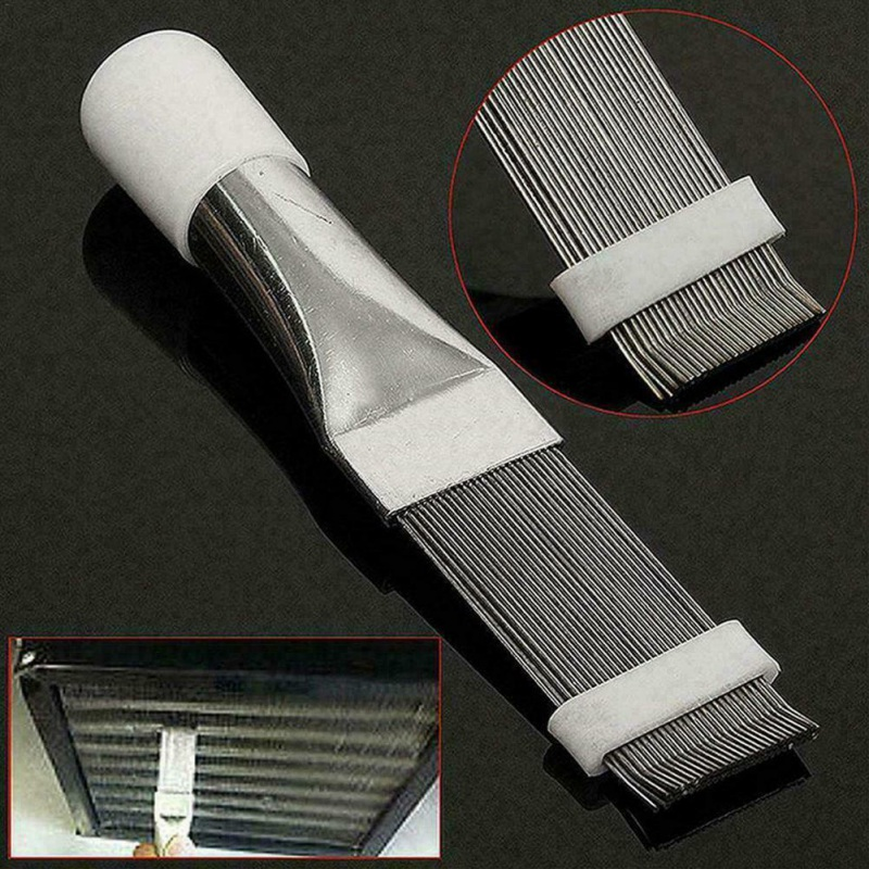 Stainless Steel Fin Comb Air Conditioner Condenser And Radiator Fin Straightener Cleaner Repair Tool Metal Cleaning Brush Access