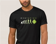 Designing Newest android evolutions t shirt for mens Spring Autumn Fitness t-shirt mens Leisure tshirt large 100% cotton