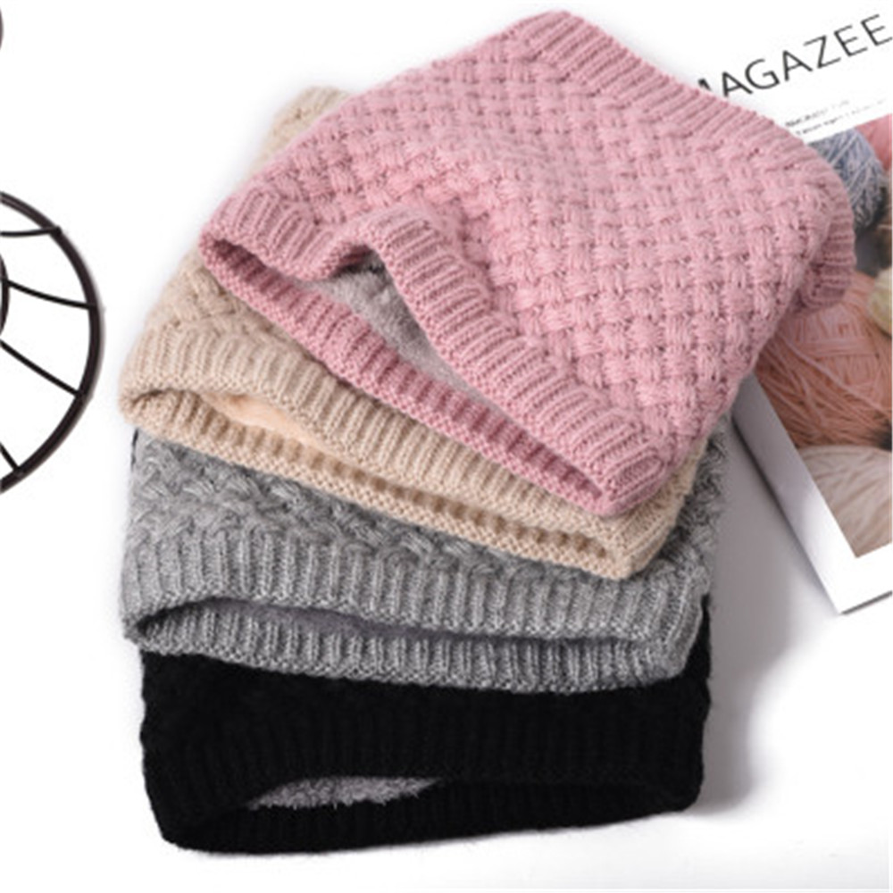 Warm   Scarves   Men Winter   Scarf   Women Warm Brushed Knit Neck Circle   Wraps   Cowl Loop Snood Shawl Lady Outdoor Travel   Scarves     Wraps