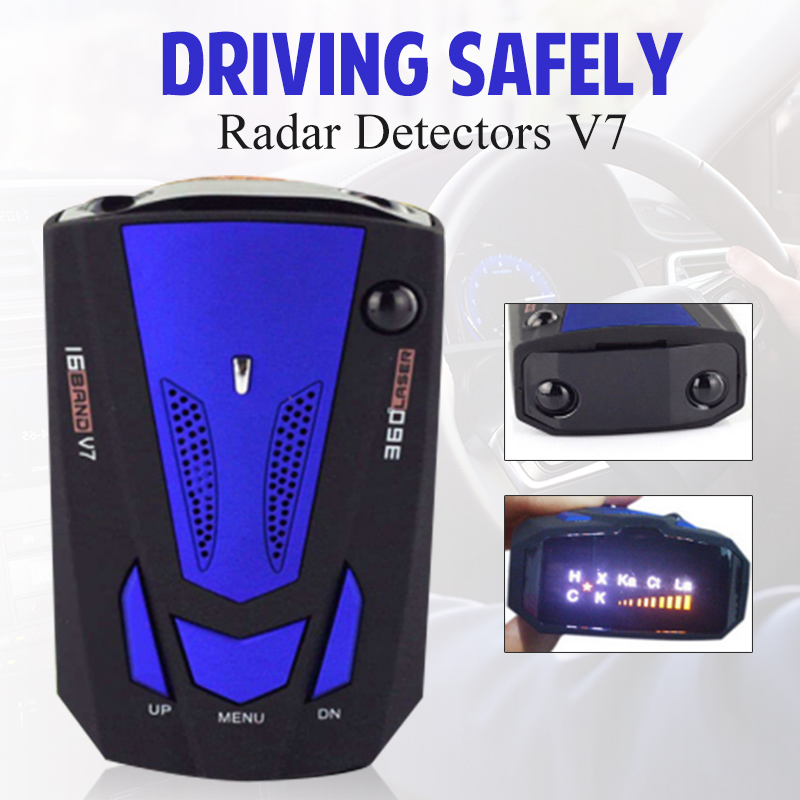 Car Radar Detector Auto 360 Degree Vehicle Speed Voice Alert Alarm Warning City Highway Mode Car Speed Alarm System LED Display