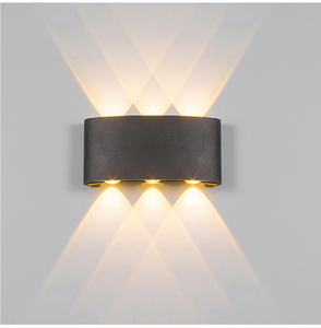 2W 4W 6W 8W LED Wall Light Outdoor Waterproof Modern Nordic style Indoor Wall Lamps Living Room Porch Garden Lamp AC90-260V(China)