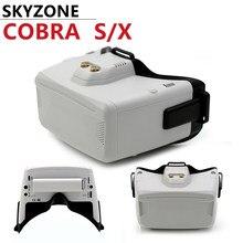 Skyzone cobra s 800x480 4.3 polegada cobra x 1280x720 4.1 polegada 5.8g 48ch rapidmix receptor cabeça rastreador dvr fpv óculos de proteção para fpv corrida