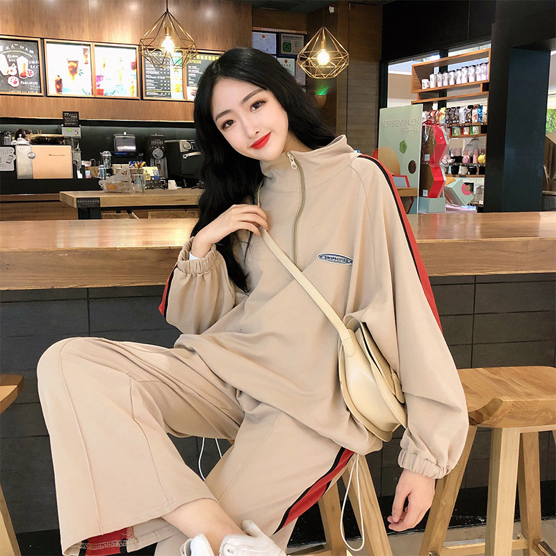 Autumn & Winter Sports Clothing WOMEN'S Suit 2019 New Style Korean-style Online Celebrity Loose And Plus-sized Casual Sweatshirt