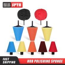 SPTA Губка для полировки автомобильных колес, используемая для электрической дрели, 3 дюйма/4 дюйма шарики для полировки Полировочный конус, Г...