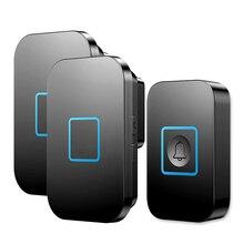 New Arrival Wireless Waterproof Doorbell 1 2 Button 1 2 3 Receiver 300M Remote Control 60 Chimes Door Bell Smart LED Door Ring
