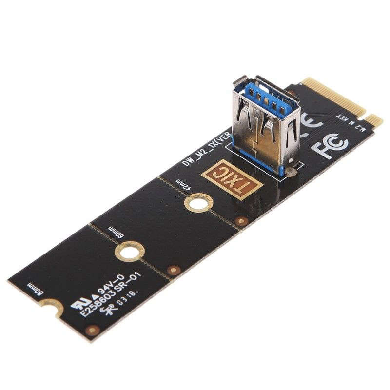 M.2 Ngff To Usb3.0 Pci-E Riser Card M2 Slot Extender Adapter For Btc/Eth Mining