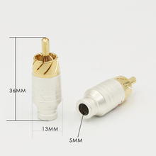 4 Uds. De cable de señal de Audio, Conector de loto rca, enchufe rca, enchufe de cabeza, cable de audio
