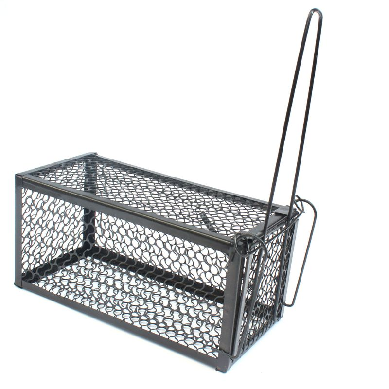 Rat Trap Pest Control Cage Humane Black Live Animal Catcher No Poison Mouse Catching Tool For Home Kitchen Warehouse E65B