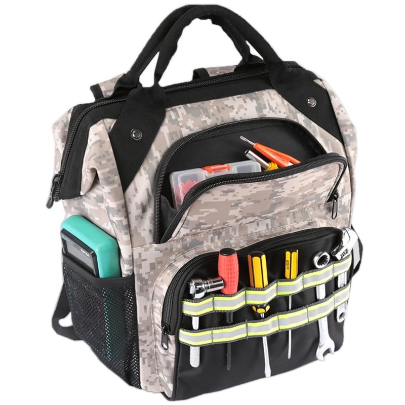 Tool Backpack Electrician Repair Storage Organizer Bag Large Capacity Waterproof Tool Bag Multifunction Knapsack