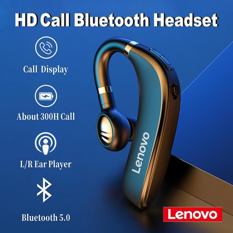 Новинка 2020, гарнитура Lenovo HX106 с Bluetooth 5,0, наушники-гарнитура, беспроводные наушники-вкладыши, наушники-вкладыши с HD микрофоном для iPhone, xiaomi
