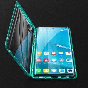 Image 4 - Magnetyczny dwustronnie szkło hartowane etui do Samsung Galaxy Note 10 Pro Plus Case odporny na wstrząsy twardy pancerz metalowy zderzak S20