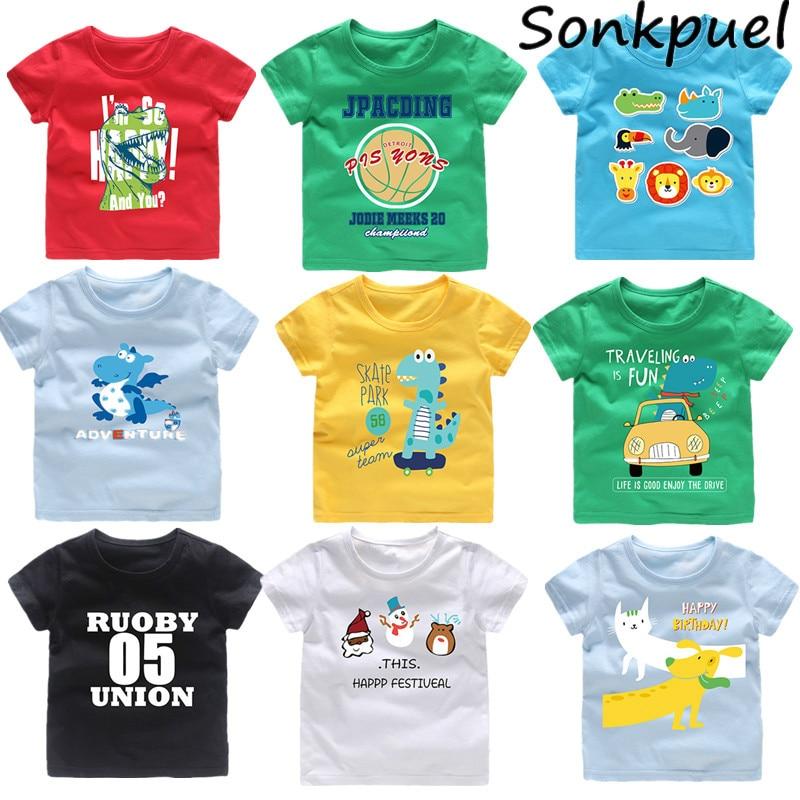 School Bus Cartoon Kids Girls Short Sleeve T-Shirts Ruffles Shirt Tee for 2-6T