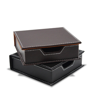 PU Leather Memo Box Desk Acces