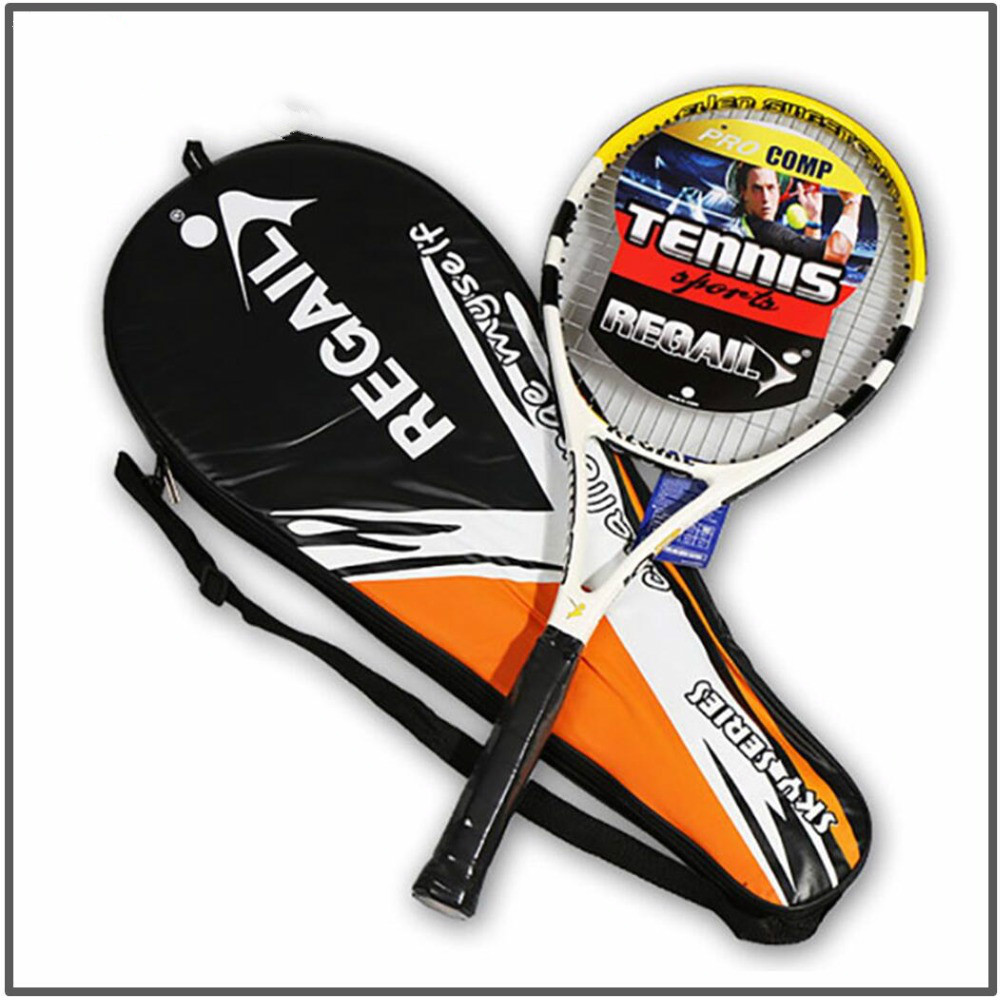 FX High Quality 1 Piece Tennis Racket Carbon Fiber Women Man Masculino Raqueta De Tenis For Match Game Training With Free Bag