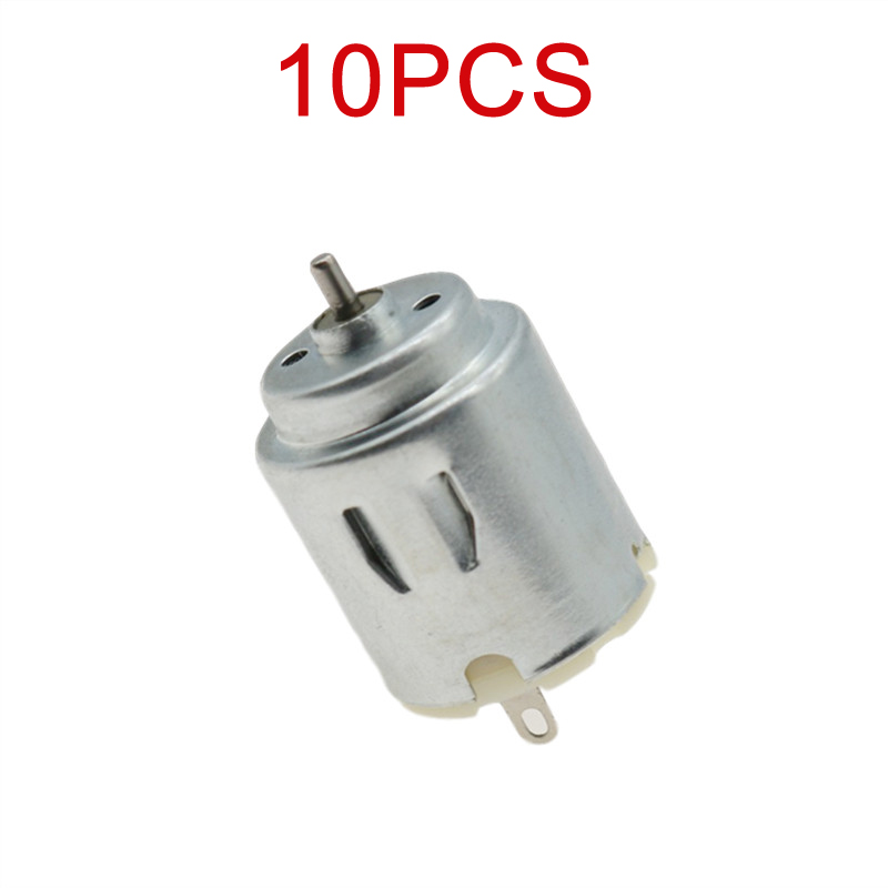 10PCS 2x4mm Short Shaft 140 Micro DC Motor DIY Toy Racing Car Mini Motors 3V-6V 21x25mm Spare Parts for RC Boat Model
