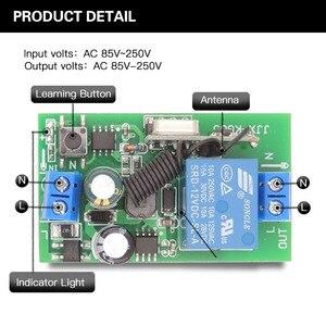 Image 5 - 433 mhz rfリモートコントロールac 220v 10A 1CHリレー受信機ユニバーサルガレージ/ドア/ライト/led/送風機/モーター/信号伝送