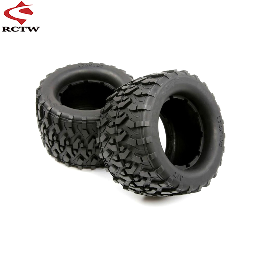 Rubber All Terrain Tyre Skin Set Fit 1/8 HPI Racing Savage XL FLUX Rofun Rovan TORLAND MONSTER BRUSHLESS TRUCK Rc Car Toys Parts image