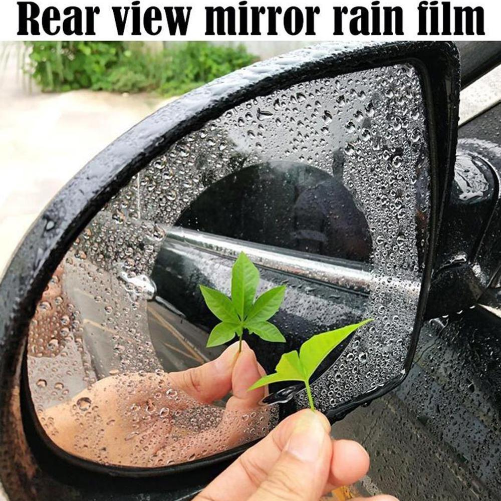 2PCS Car Mirror Window Clear Film Car Anti Fog Anti-glare Rainproof Rearview Mirror Trim Film Cover Accessories