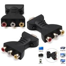 HDMI К AV адаптер Делителя Частоты HD видео композитный конвертер коробка HDMI к RCA AV/CVSB L/R видео 1080P мини HDMI2AV Поддержка NTSC PAL