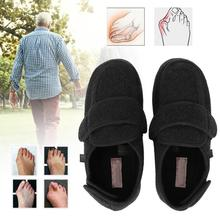 Alívio da dor espuma de memória confortável fechado com os dedos edema diabético ajustável sapatos planos suspensórios suporta
