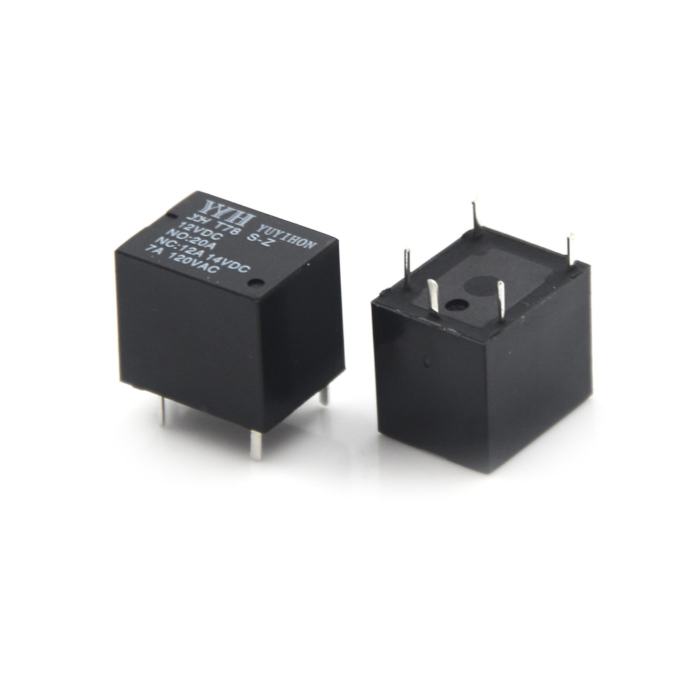 2 Pcs <font><b>T78</b></font> <font><b>Relay</b></font> DIP-5 10A 24V 12v DC Mini <font><b>Relay</b></font> YYH <font><b>T78</b></font>-12V-Z ORIGINAL image