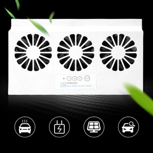 Upgrade USB Charging Solar Powered Fan Car Cooler Front/Rear Window Radiator Exhaust Fan Auto Air Vent Fan Ventilation Radiator(China)