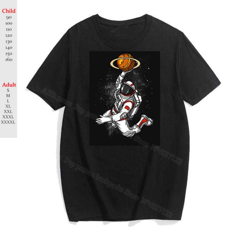 Freddo Spazio Astronauta Stampa T Shirt In Cotone O-Collo Del Fumetto T-Shirt Delle Ragazze Dei Ragazzi Divertente Grafica Maglietta Degli Uomini/donne/bambini tee Magliette E Camicette Unisex
