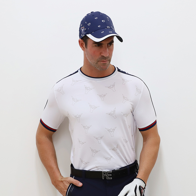 PLAYEAGLE New Fashion Golf Shirts For Men Quick Dry Polos Shirt Custom Short Sleeve