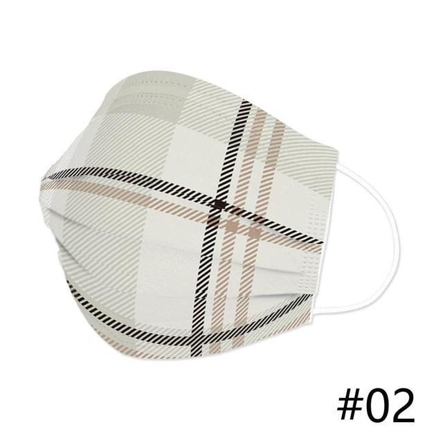 50Pcs 3Layer Mouth Face Mask Disposable Breathable Masks Customized Special Hello Plaid Stripe Country City Universe Mask 3