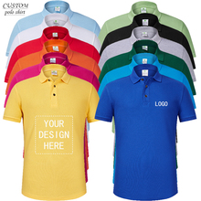 Custom 100% cotton polo shirt with Logo printing or embroidery tailor made pure Create Your Own Polo unisex Shirt