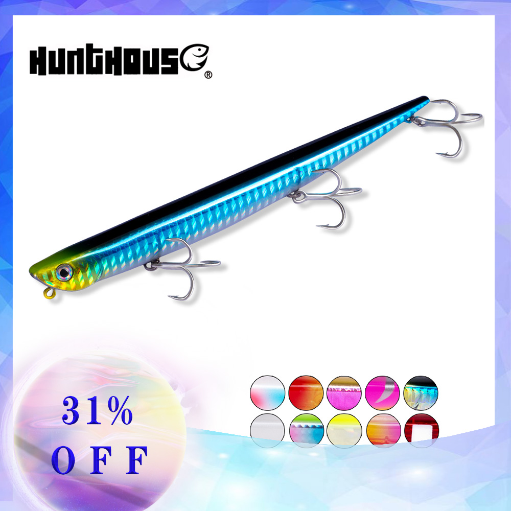 Hunt house fishing lure bay ruf manic fishing lures pencil bait sinking 99mm 18.5g 155mm 31.5g origin hook for sea bass bluefish
