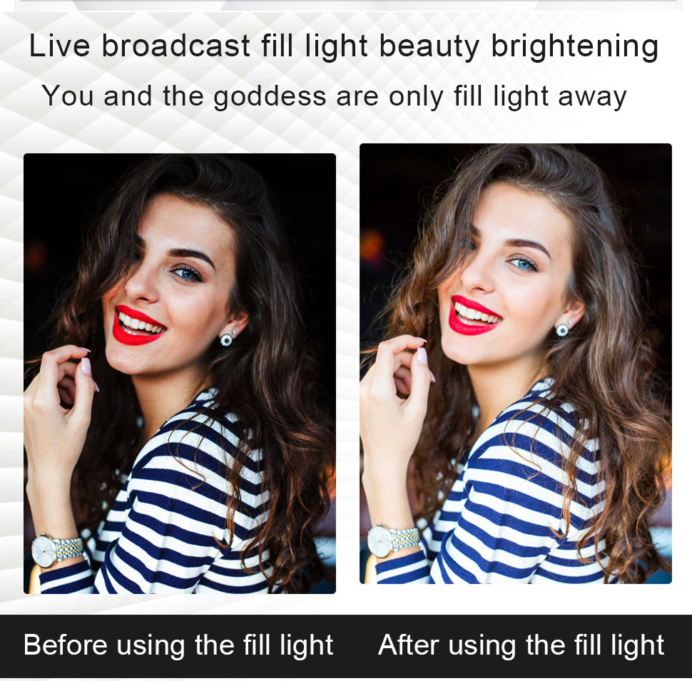 Ha40f749b72da4e1da26b34e4504b48b4S Orsda 10-13 Inch RGB Ring Light Tripod LED Ring Light Selfie Ring Light with Stand RGB 26 Colors Video Light For Youtube Tik Tok