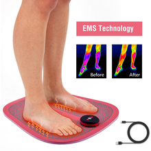 Electric EMS Foot Massager Mat Wireless Foot Acupoint Stimulation Foot Massage Pad Health Care Relieve Fatigue USB Rechargeable