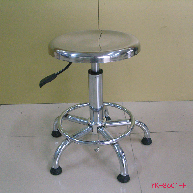 Supply Jiangsu Stainless Steel Round Stool Laboratory Chair Anti-static Height Adjustable Stool Currently Available