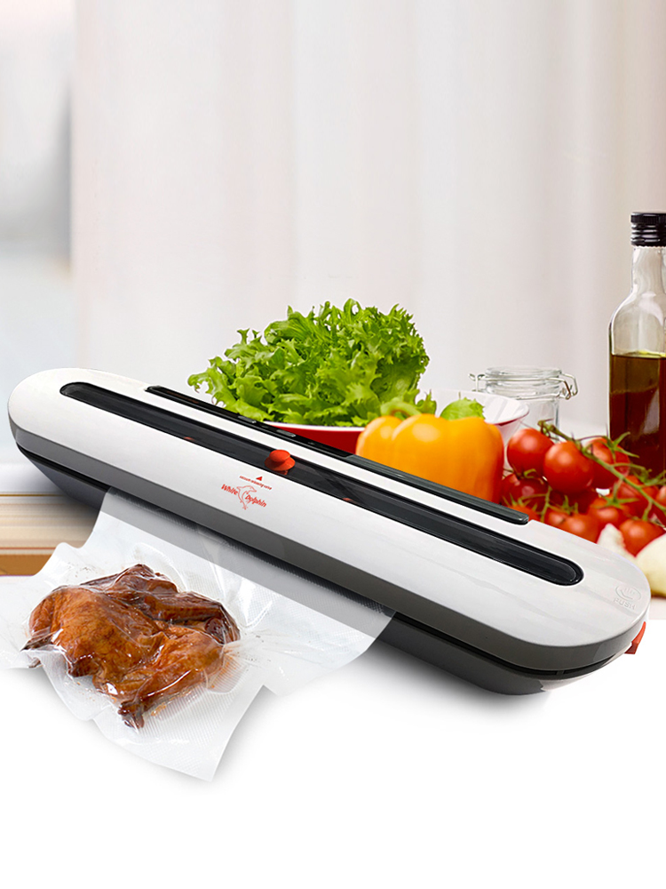 Aferidor do vácuo de alimentos para uso doméstico máquina de embalagem com 10 pces sacos livres 220 v 110 v automático comercial melhor aferidor do vácuo alimentos miniSelantes de alimentos a vácuo   -
