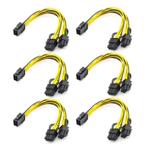 PCI Express Power-Adapter GPU Male Female-To-Dual-2x8 6PCS 6-Pin Y-Splitter-Extension-Cable