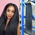 40-дюймовые пучки, курчавые прямые пряди, бразильские 100% человеческие волосы, грубые курчавые 1/3/4 шт., волосы Alianna Remy для наращивания