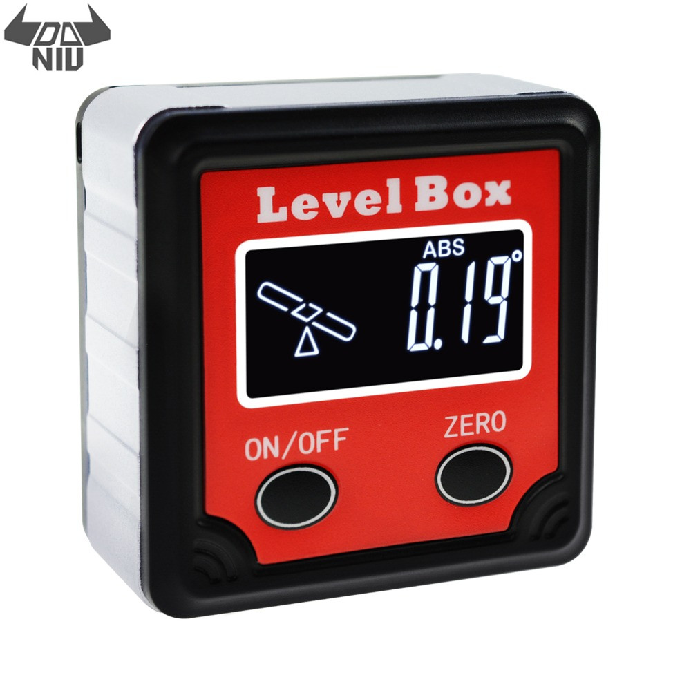 DANIU Digital Level Angle Finder Bevel Box Magnetic Base 360° Inclinometer Protractor Gauge Tilt Direction Indicator Tool