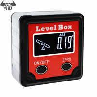 DANIU Digital Level Angle Finder Bevel Box Magnetic Base 360° Inclinometer Protractor Gauge Tilt Direction Indicator Tool