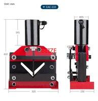 CAC 110 Hydraulic Split Angle Busbar Cutter Tool Hydraulic Angle Steel Cutting Machine Force 30T
