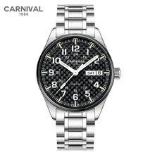 Роскошные Брендовые Часы carnival мужские модные светящиеся
