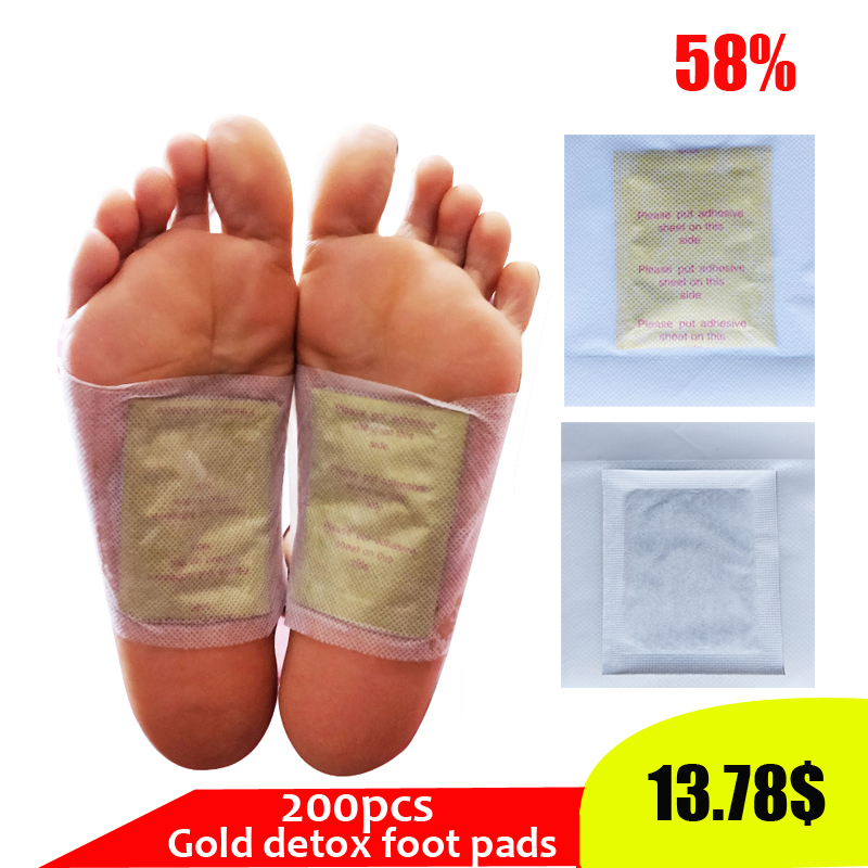 200pcs/lot Kinoki Detox Foot Patch Bamboo Detox Foot Pads With Adhersive Foot Care Tool Improve Sleep slimming Foot sticker(China)