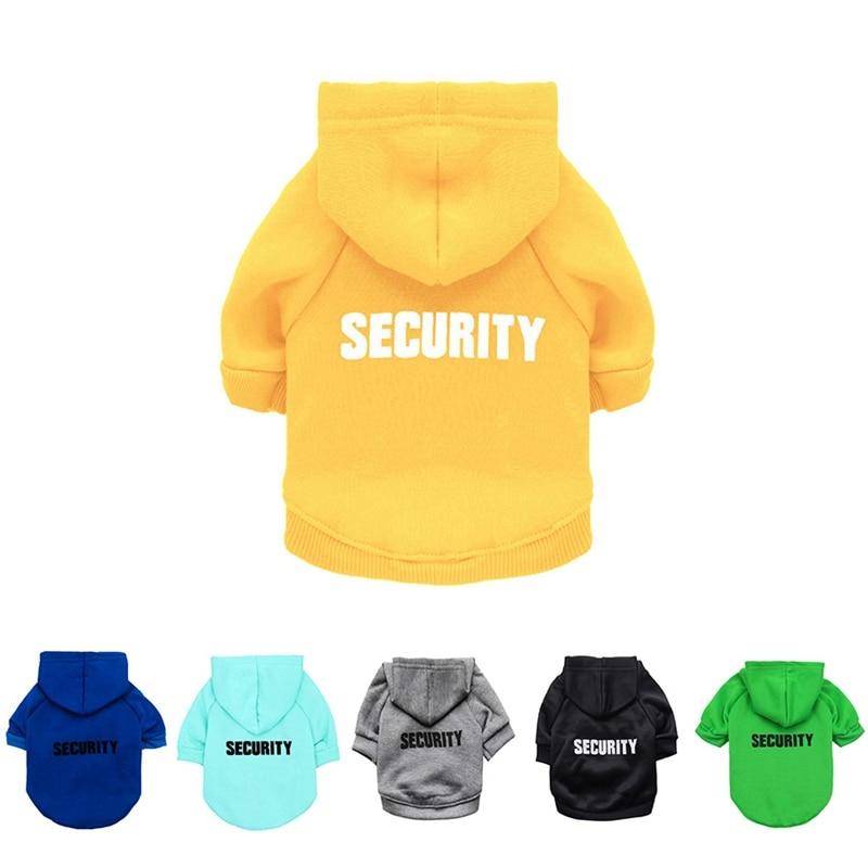 Security Dog Cat Clothes Pet Cat Coats Jacket Hoodies For Cats Dog Outfit Warm Pet Clothing Rabbit Animals Pet Sweatshirt 2
