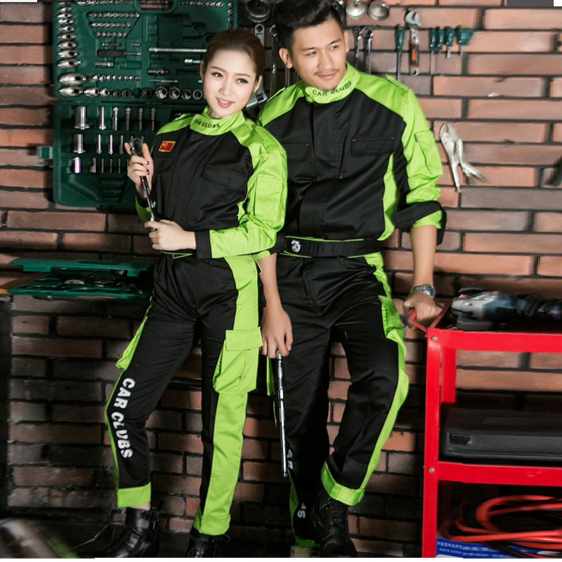 Car Club Long-sleeved Auto Repair Workwear Working Coveralls Contrast Color Spring Car Repair Car Beauty Repair Car Wash Shop
