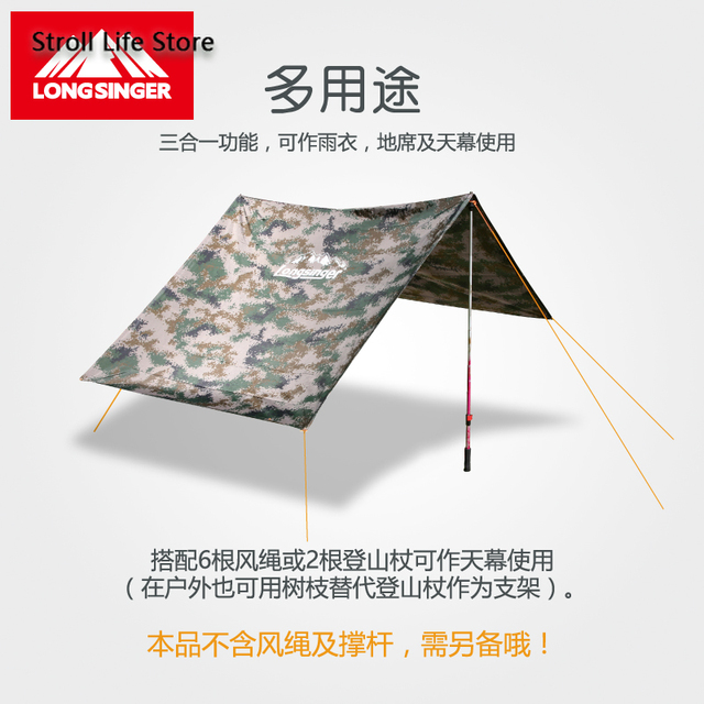 Outdoor Rain Poncho Hiking Raincoat Walking  with Sleeves Floor Cloth Rain Coat Thicken Riding Mountaineering Rain Gear Gift 3