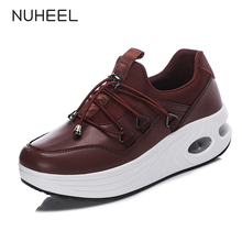 NUHEEL women shoes wild fashion breathable comfortable women's casual shoes thick bottom non-slip shoes women