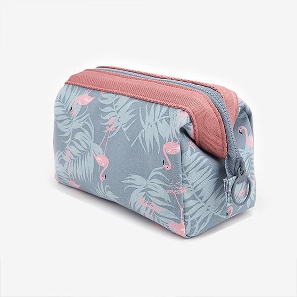 UOSC Sample Cosmetic Bag Women Waterproof Flamingo Makeup Bags Travel Organizer Toiletry Kits Portable Makeup Bags Beautician