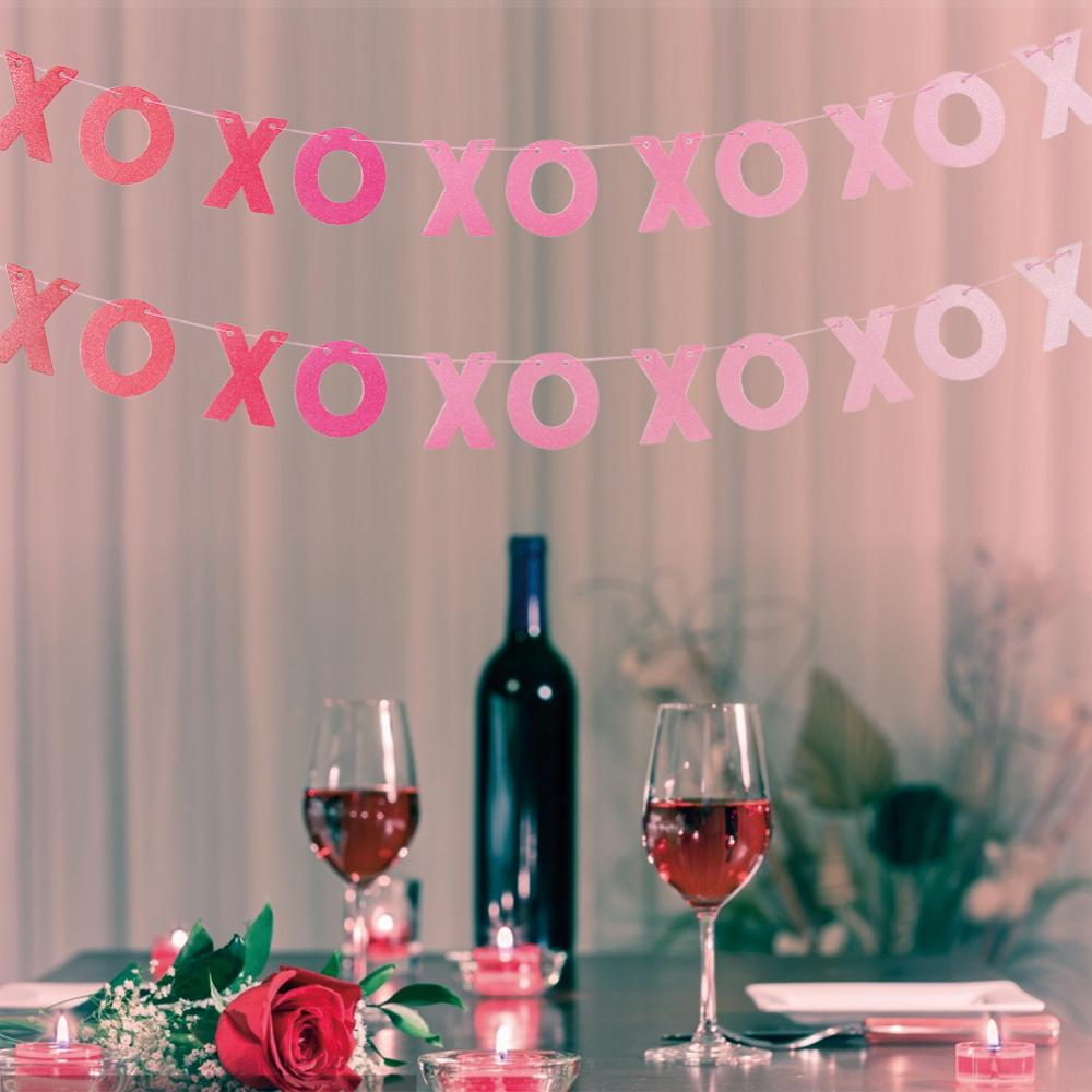 XO XO Wedding Engagement Bunting Banner Wedding Sign Hanging Paper Garland